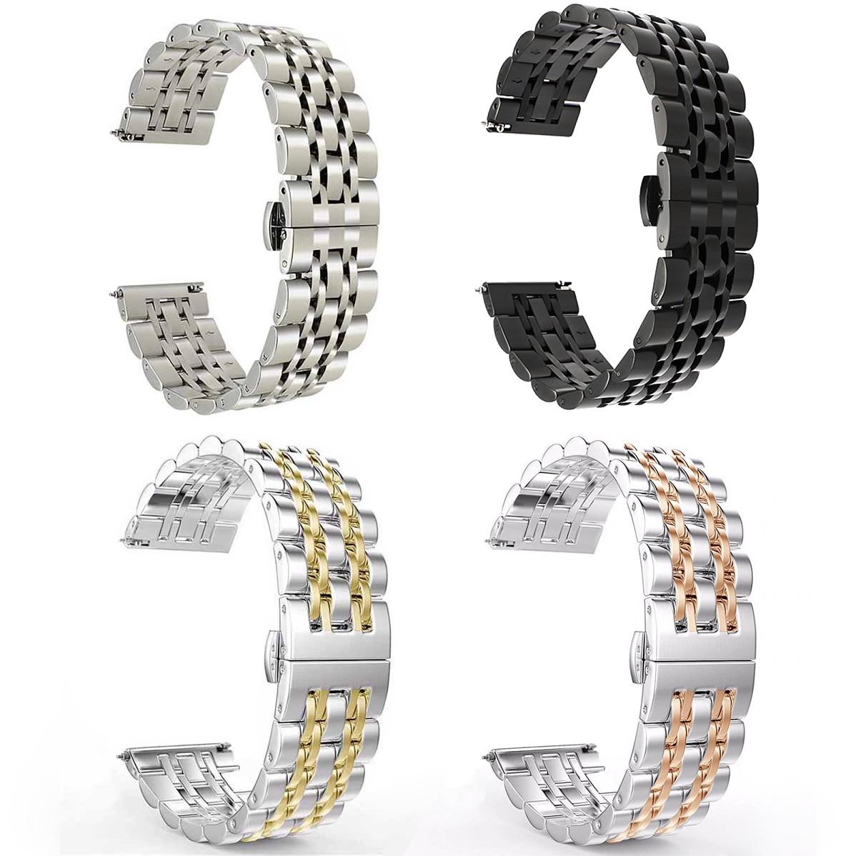 Ремешок из прочной нержавеющей стали для часов Samsung Galaxy Watch Active 2 40mm 20 мм