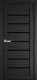 Двері міжкімнатні Леона скло BLK ПВХ Ultra, Дуб сірий, 600