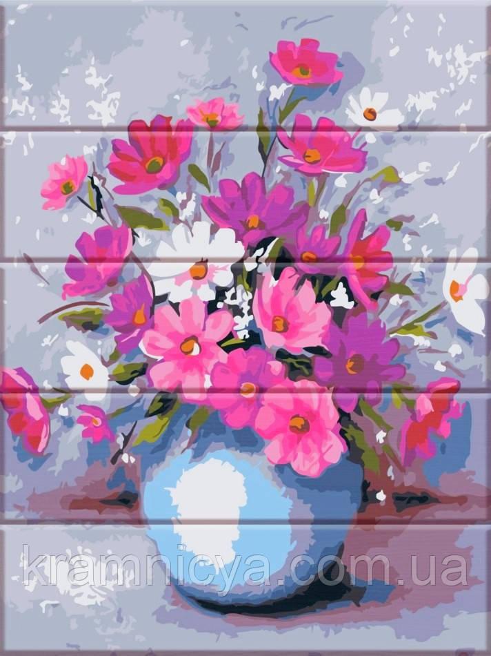 Картина по номерам на дереве Нежные цветы, 30х40 ArtStory (ASW149)