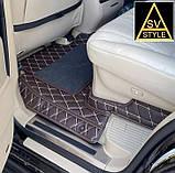 Килимки на Toyota Sequoia Шкіряні з текстильними накидками 3D (2008-2016), фото 3