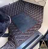 Килимки на Toyota Sequoia Шкіряні з текстильними накидками 3D (2008-2016), фото 4