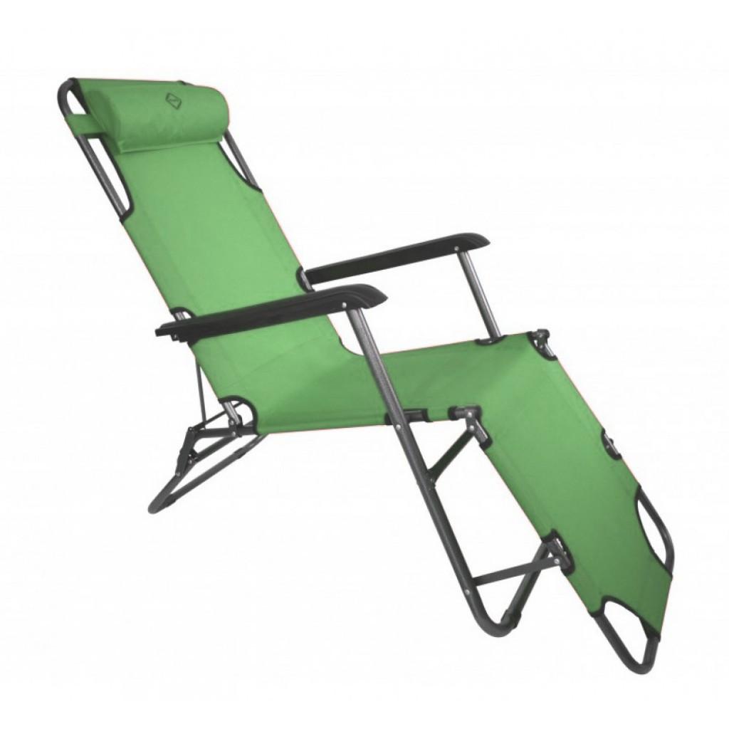 Шезлонг лежак Bonro 178 см темно-зеленый