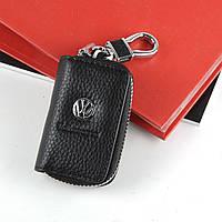 Чехол для ключей с карабином Volkswagen кожа   2871