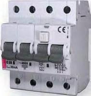 Дифференциальный автомат KZS 4P 10/0,03А C 10кА ETI 2174027