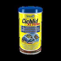Корм для аквариумных рыб Tetra Cichlid XL Flakes 500мл большие хлопья для крупных цихлид (139985)