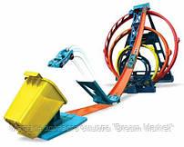 Детский Игровой Набор Для Мальчиков Хот Вилс Конструктор трасс Тройная петля с машинкой Hot Wheels Mattel