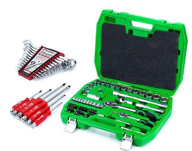 ✅ Набір інструментів 72 од. Intertool ET-6072SP + набір ключів 12 од. HT-1203 +Набір викруток ударних 6 шт