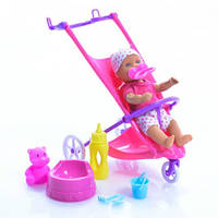 Кукольный набор Мини Пупс NBB с коляской Simba 5030928