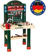 Ігровий набір для хлопчиків Майстерня Bosch Верстак з інструментами і тренувальними ефектами, 82 деталі, Klein