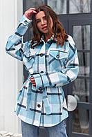 Кашемировое пальто-рубашка в клетку Нетти