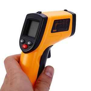 Технический бесконтактный электронный цифровой инфракрасный термометр VKTECH GM320, до 380 градусов