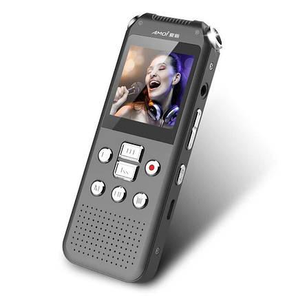 Диктофон + відеореєстратор + фотоапарат 3в1 Amoi E730, міні, WAV до 768 кбіт/с, AVI до 720p, метал, фото 2