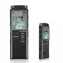 Диктофон цифровой с большим экраном DOITOP T-60, память 8 Гб, стерео, аккумуляторный, фото 2