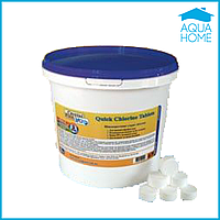 Химия для бассейнов Crystal Pool Quick Chlorine Tablets 50 кг (таблетка 20гр)