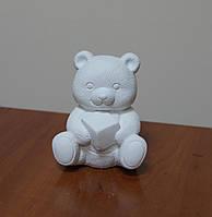 Гипсовые фигурки для раскрашивания. Мишка с кубиком.