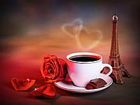 "Картина на стекле ""Кофе с любовью"""