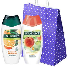 """Набор """"Palmolive"""" Гель-крем для душа Palmolive Натурэль Витамин С +Гель-крем для душа Palmolive сладкий персик"""
