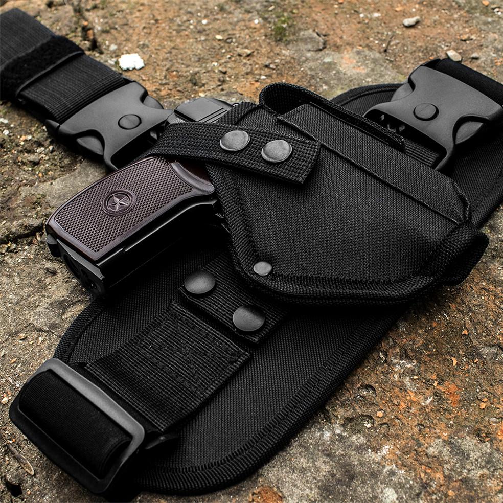 Кобура набедренная для пистолета  ПМ с платформой черная