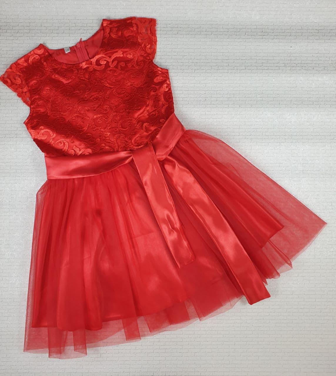 Нарядное платье на девочку БЕЛОСНЕЖКА 140, 146, 152 см, красный