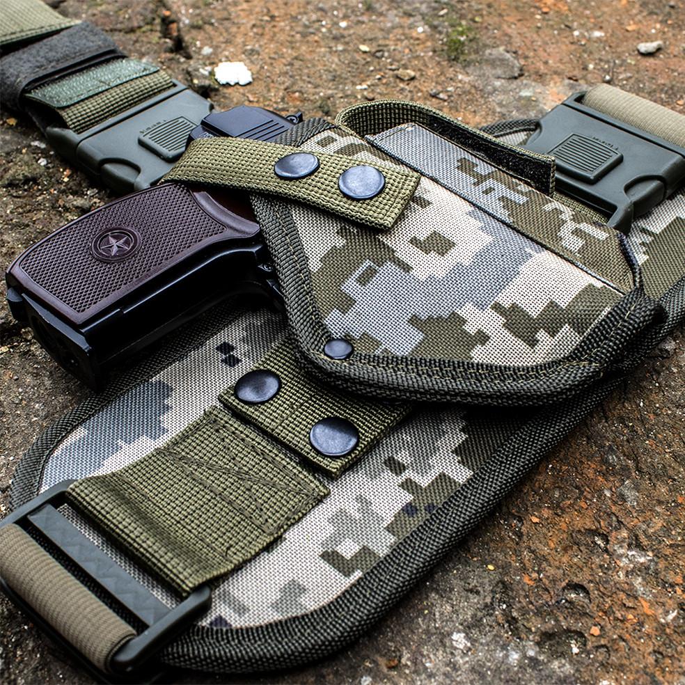 Кобура стегновий для пістолета ПМ з платформою піксель