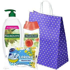 """Набор """"Palmolive"""" Гели для душа Palmolive  Натурэль Интенсивное увлажнение+ Натурэль Мягкий и сладкий персик"""
