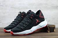 Мужские кроссовки демисезонные Черные с красным Jordan, фото 1