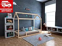 Ліжко-будиночок Анетти плюс 70*140 Масив ВІЛЬХА (з бортиком), фото 1