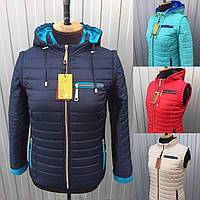 Женская демисезонная короткая куртка-трансформер в разных цветах 42-66 размеры