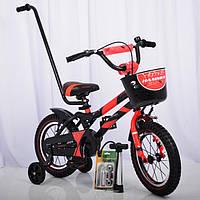 """Дитячий велосипед Hammer S500 14"""" з батьківською ручкою"""