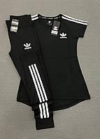 Комплект женский (футболка + лосины) для фитнеса Adidas