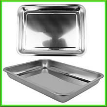 Противень из нержавеющей стали без ручек 40 * 30 * 4 см