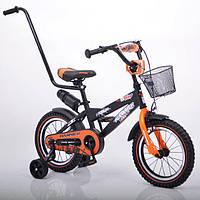 """Детский велосипед HAMMER S600 14"""" с ручкой для родителей"""