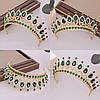 Діадема кольє і сережки, набір прикрас, корона, тіара, фото 3