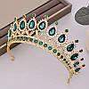 Діадема кольє і сережки, набір прикрас, корона, тіара, фото 8