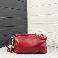 Женская кожаная сумка. Сумочка женская из натуральной кожи, фото 4