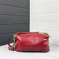 Женская кожаная сумка. Сумочка женская из натуральной кожи, фото 5