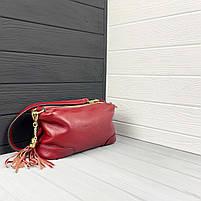 Женская кожаная сумка. Сумочка женская из натуральной кожи, фото 6