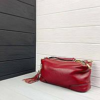 Женская кожаная сумка. Сумочка женская из натуральной кожи, фото 9