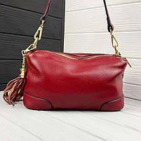 Женская кожаная сумка. Сумочка женская из натуральной кожи, фото 10