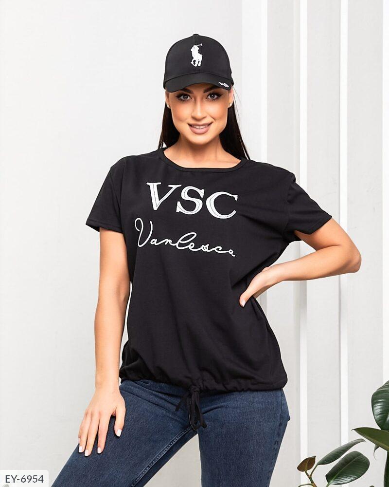 Жіноча футболка з накатом на куліске (Батал)