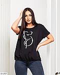 Жіноча футболка з накатом на куліске (Батал), фото 6