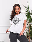 Жіноча футболка з накатом на куліске (Батал), фото 9
