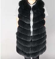 Меховая жилетка Black 90см