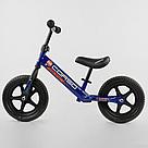 """Беговел CORSO велобіг від дитячий синій, сталева рама, колесо 12"""" велосипед без педалей, фото 2"""