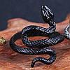 Кільце зі змією регульований розмір Колір чорний Аксесуар на Хеллоуїн