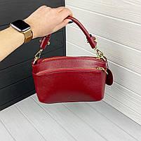Міні сумка жіноча шкіряна. Сумочка жіноча з натуральної шкіри, фото 8