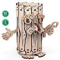 Механічна дерев'яна 3D-модель Mr.Playwood Лісовичок - скарбничка, 63 деталі, (10605)