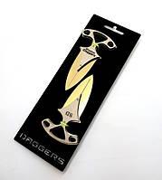 Нож игрушечный деревянный Декор Тычковые, Золото, (DAG-G)