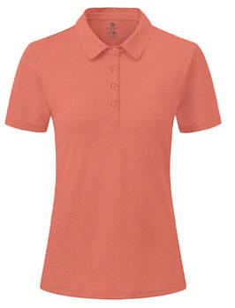 Футболка поло однотонна жіноча, колір морквяний