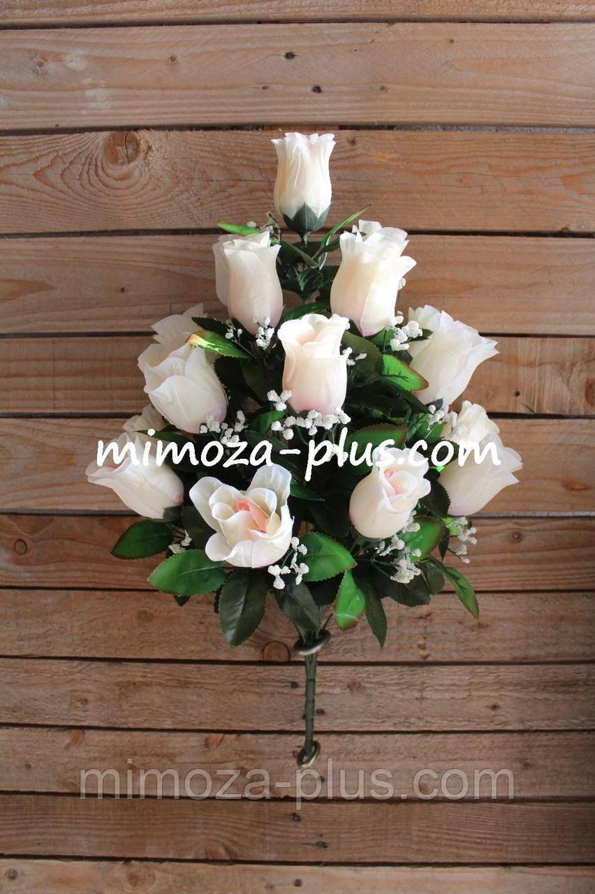 Штучні квіти - Роза букет, 55 см